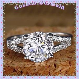 🆕💎 2Ct Diamond Solitaire SS Ring 💎